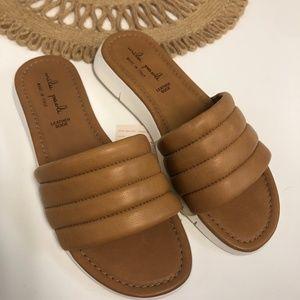 Mila Paoli Italian Leather Slide Sandals NWT
